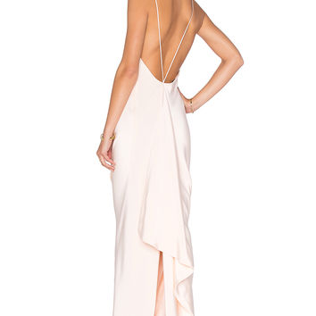 JILL JILL STUART Drape Back Gown in Powder