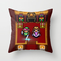 Zelda Sanctuary Throw Pillow by Likelikes