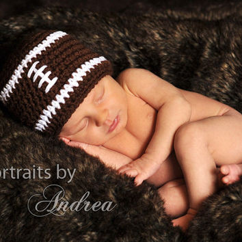 Baby Boy Football Hat - Baby Boy Hat - Baby Girl Hats - Newborn Hats - Cute Photo Prop - ON SALE This Week Only