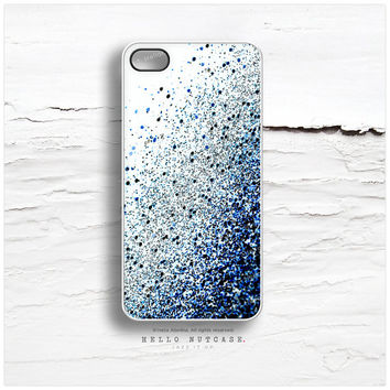 iPhone 6 Case Glitter, iPhone 5C Case Glitter Texture Print, iPhone 5s Case Blue Glitter iPhone 5 Case, Glitter iPhone Case iPhone Cover N30