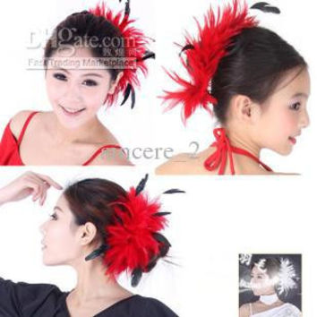 Natural feather corsage, large feather flower feather hair hair bride N color feathers 20PCS