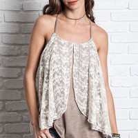 Dual Layered Lace Tank