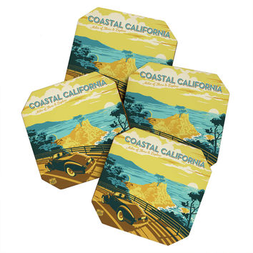 Anderson Design Group Coastal California Coaster Set