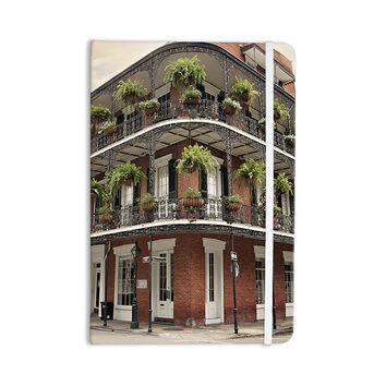"Sylvia Cook ""New Orleans Street Corner"" Green Brown Everything Notebook"