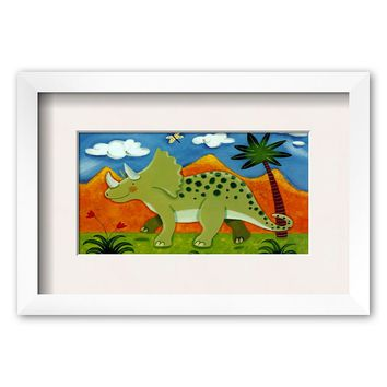 Art.com ''Timmy the Triceratops'' Framed Art Print by Sophie Harding (Chelsea White)