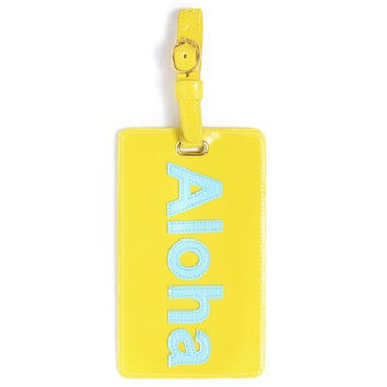 LoloBag - Luggage Tag / Blue Aloha