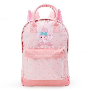 School Backpack New Fashion Hello Kitty My Melody Girls Students Canvas School Bags Kids Backpack Bag For Children AT_48_3
