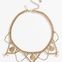 Women's Topshop Coin Collar Necklace