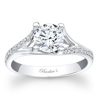 Barkev's Split Shank Cathedral Diamond Engagement Ring