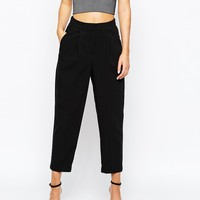 New Look Tailored High Waisted Crop Pant