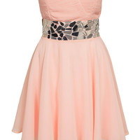 Mirror Embellished Prom Dress, Te Amo
