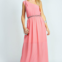 Camilla Embellished One Shoulder Maxi Dress