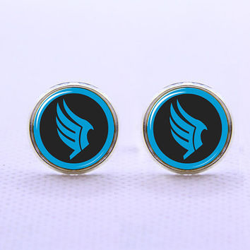 Mass Effect Inspired Cufflinks  -Mens Silver Plated Cufflinks,Accessoires for Man-Mens Gift ,Gift for Daddy ,Best Man