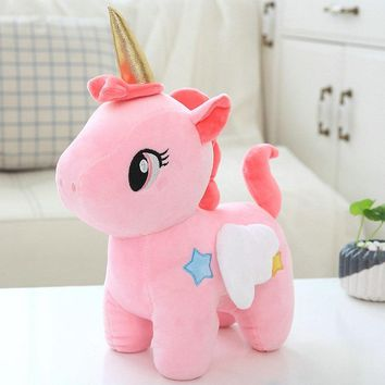 20cm Cute Simulation unicorn Plush Animals Stuffed Plush Pillow Cushion horse Toys Decoration Birthday Gifts Kids Toys
