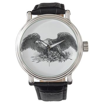 eagle bird animal nature illustration watch