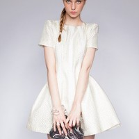 Ivory structured dress - Shop the latest Fashion Trends