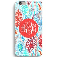 Let Minnow Artwork Customized Monogram Lilly Pulitzer iPhone 6 Case, iPhone 5S Case