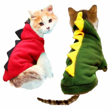 Winter Cat Clothes Pet Dragon Costume Clothes Cat Coat Jacket Hoodies Teddy Jersey Puppy Outfit Clothing Dressing Up 25 S1