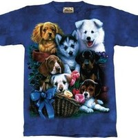 The Mountain Puppy Collage Dogs Short Sleeve Tee T-shirt Child XL