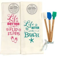 Brownlow Flour Sack Dish Towel Better Beach Flip Flops Mini Kitchen Spatula Set