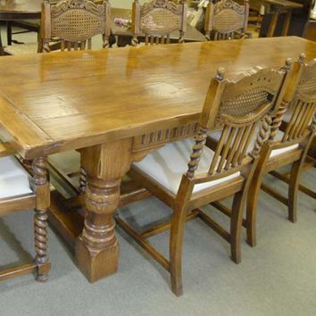 Canonbury - Chunky Abbey Farmhouse Refectory Table Oak Rustic Tables