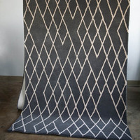 "DIAMOND GRAY HAND TUFTED WOOL RUG 144"" x"