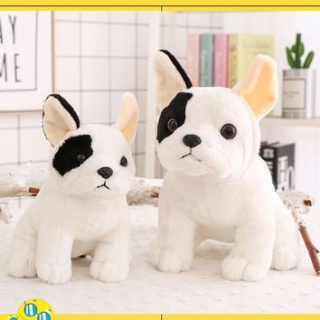 22cm 27cm Hot Sale High Quality Cartoon Sims French Bulldogs Plush Toys Dolls Mascot Shadows Dog Dolls Girls Birthday Gifts1pcs