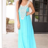 Aqua Days Maxi Dress - Turquoise