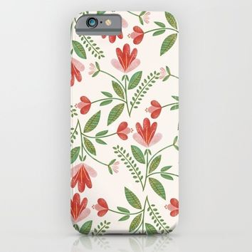 Floral Garden Pattern iPhone & iPod Case by chotnelle