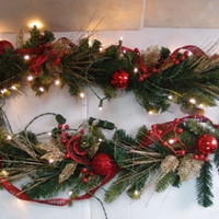 6' long garland: classic christmas collection