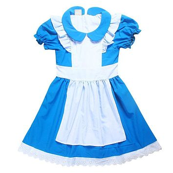 Summer Girls Dresses Alice In Wonderland Fairy Tale Princess Wedding Party Dress Baby Girl Dress Elsa Costume Kids Clothes