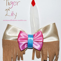 Tiger Lily Hair Bow by MickeyWaffles on Etsy