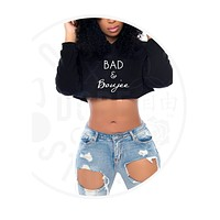 Bad and Boujee Cropped Hoodie