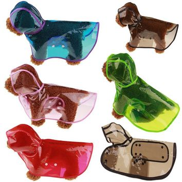 Waterproof Dog Colorful Waterproof Transparent Raincoat Small Large Size For Dog Clothes Raincoat