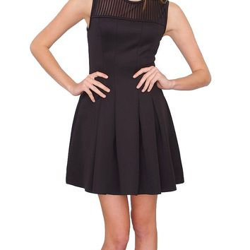 Uptown Fit & Flare Sleeveless Dress - Black