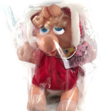 Vintage Miss Piggy McDonalds Plush Toy, Muppet Babies