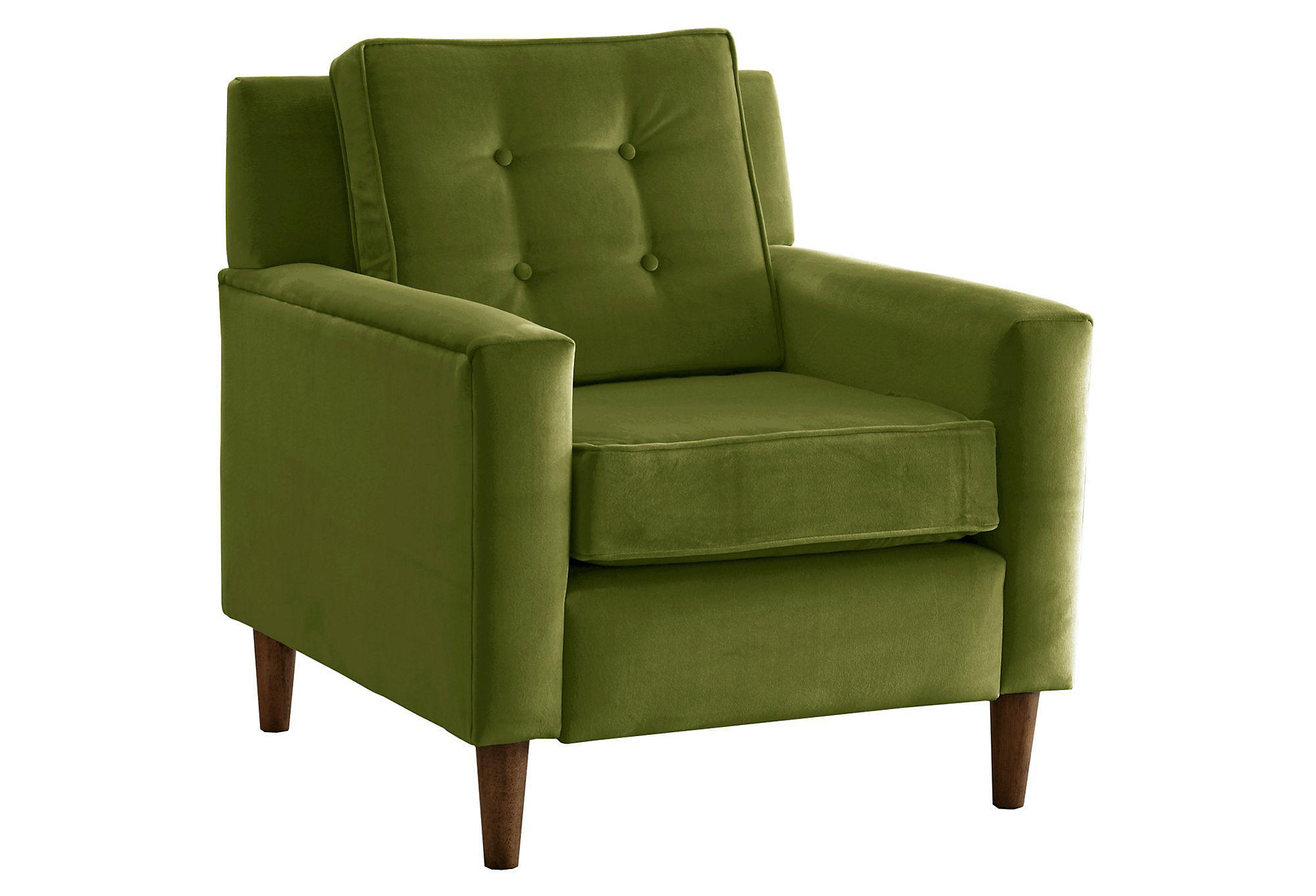 Winston Velvet Accent Chair Apple Green From One Kings Lane