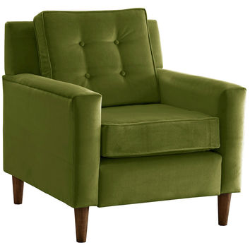 Winston Velvet Accent Chair, Grass, Club Chairs