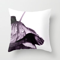Raindrop Poppy Throw Pillow by Ally Coxon