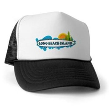 Long Beach Island NJ - Surf Design Trucker Hat> Long Beach Island NJ> Beach Tshirts.