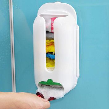 DCCKL72 Home Useful Wall Mount Plastic Carrier Bag Storage Container Holder Organizer Recycle Box 30*13*7.5cm Hot Sale