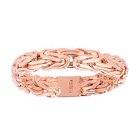 14Kt Rose Gold Byzantine Style Band - 4mm Wide