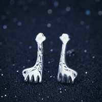 Lovely giraffe 925 Sterling Silver Earrings