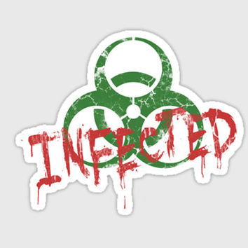 zombie sticker Infected by purplecactusdesign on Etsy