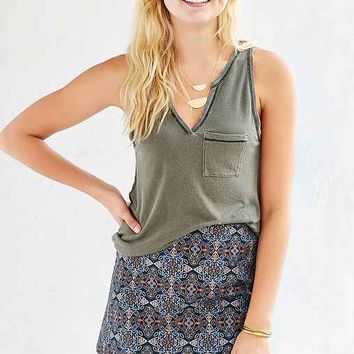 Truly Madly Deeply Notch-Neck Pocket Tank Top