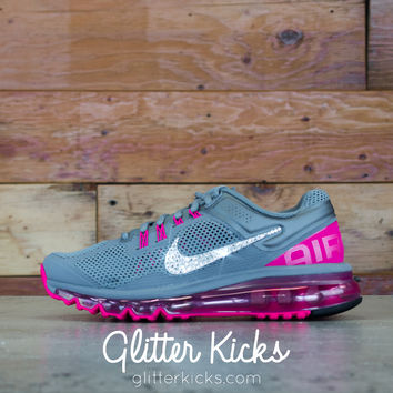 Women s Nike Air Max 360 Running Shoes By Glitter Kicks - Customized With  Swarovski Cr 8633b46f5