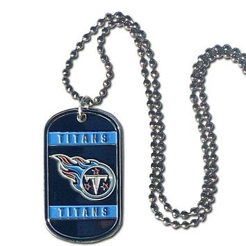 Tennessee Titans Necklace Tag Style