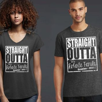 Straight Outta Family Personalized Reunion T-shirt