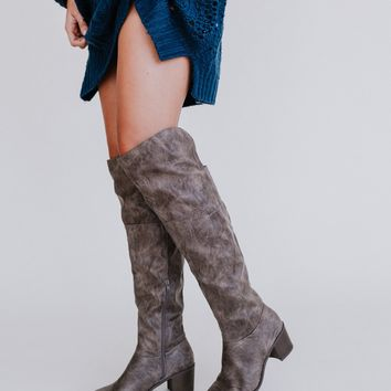 Gio Knee High Slouch Boot - Taupe