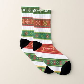 Christmas Borders Socks